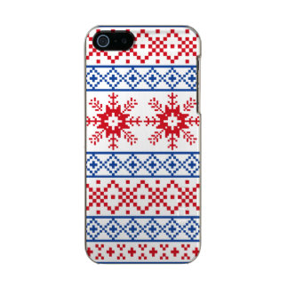 Nordic Christmas Snowflake Borders Incipio Feather® Shine iPhone 5 Case