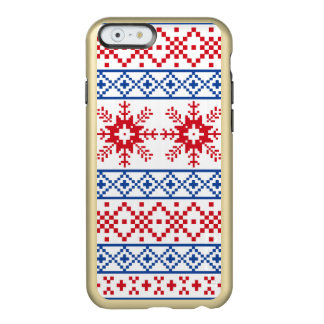 Nordic Christmas Snowflake Borders Incipio Feather® Shine iPhone 6 Case