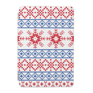 Nordic Christmas Snowflake Borders iPad Mini Cover