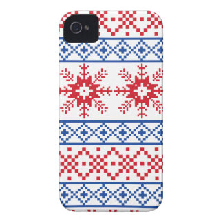 Nordic Christmas Snowflake Borders iPhone 4 Cover