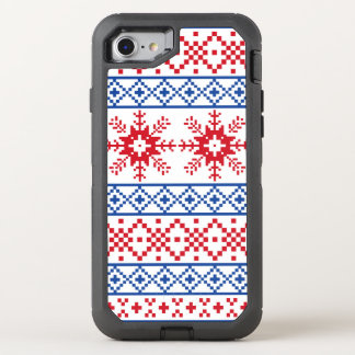 Nordic Christmas Snowflake Borders OtterBox Defender iPhone 8/7 Case