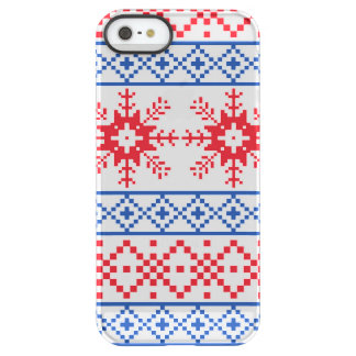 Nordic Christmas Snowflake Borders Permafrost® iPhone SE/5/5s Case