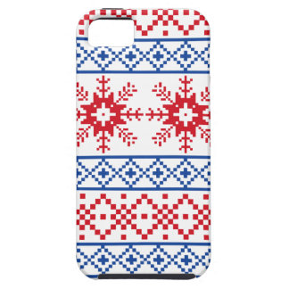 Nordic Christmas Snowflake Borders Tough iPhone 5 Case
