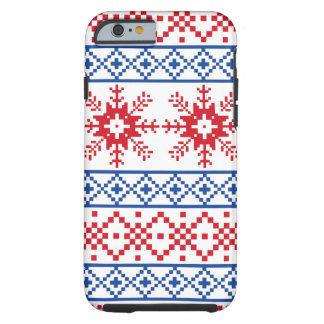 Nordic Christmas Snowflake Borders Tough iPhone 6 Case
