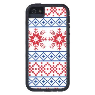 Nordic Christmas Snowflake Borders Tough Xtreme iPhone 5 Case