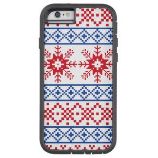 Nordic Christmas Snowflake Borders Tough Xtreme iPhone 6 Case
