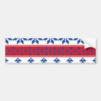 Nordic Christmas Trees Bumper Sticker