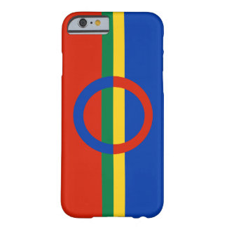 Nordic Circle Red Blue On Color Stripe Barely There iPhone 6 Case
