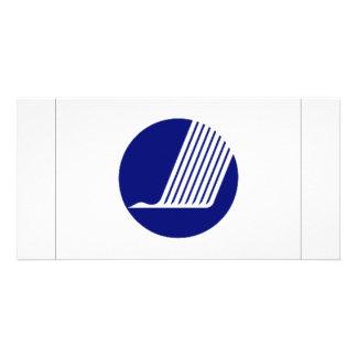 Nordic Council Flag Customized Photo Card