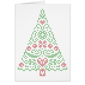 Nordic embroidery Christmas design card customize