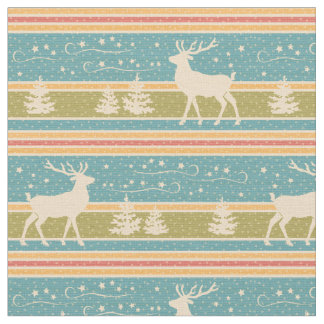 Nordic Ethnic New Year pattern. Fabric
