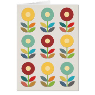 Nordic Flowers Papercut Style Card