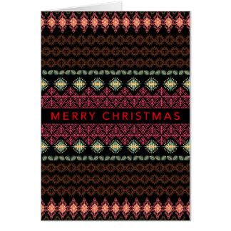 Nordic Folksy Border Christmas Card