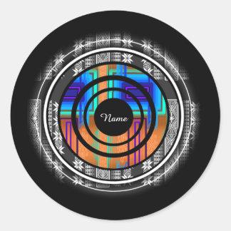 Nordic Future Monogram Classic Round Sticker