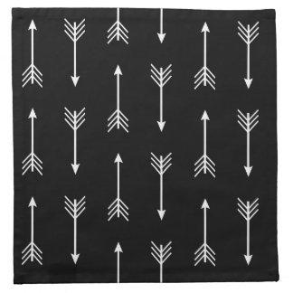 Nordic Hygge Style | Modern White Arrows Napkin
