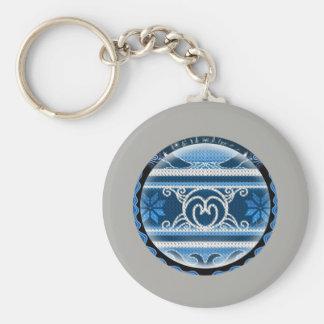 Nordic North Christmas Key Ring