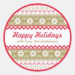 Nordic Pattern Gift Tag | Happy Holidays Custom