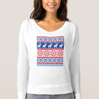 Nordic Reindeer and Snowflakes T-Shirt