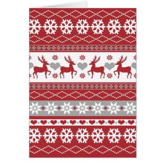 Nordic Reindeer Christmas Folded Holiday Card