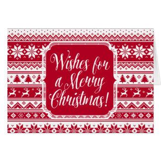 Nordic - Scandinavian Christmas Card