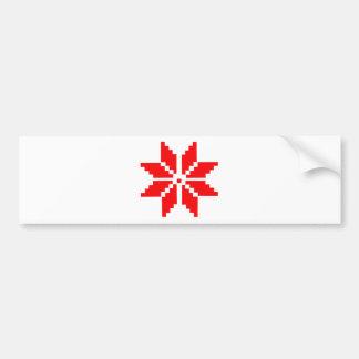 Nordic Snowflake Bumper Sticker