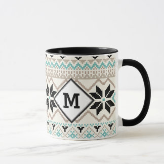Nordic Snowflake Winter Sweater Pattern Mug
