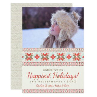 Nordic Snowflakes Christmas Sweater Holiday Photo Card