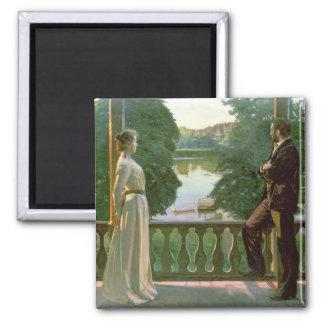 Nordic Summer Evening, 1899-1900 Square Magnet