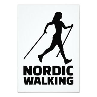 Nordic walking 9 cm x 13 cm invitation card