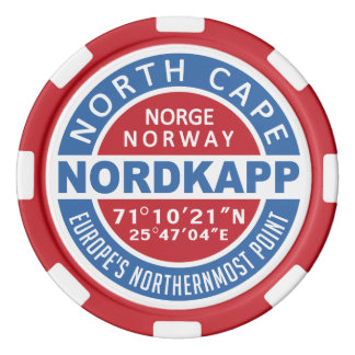 NORDKAPP Norway custom monogram poker chips