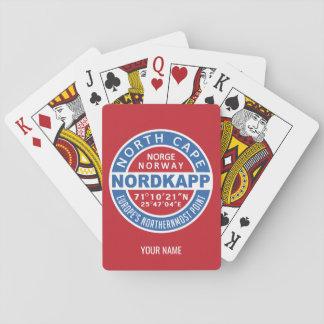 NORDKAPP Norway custom name playing cards