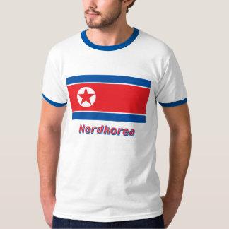 Nordkorea Flagge mit Namen T-shirts