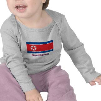 Nordkorea Flagge mit Namen Tee Shirt