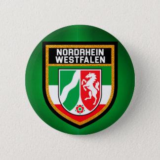 Nordrhein-Westfalen Flag 6 Cm Round Badge
