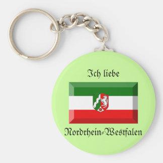 Nordrhein-Westfalen Flag Gem Key Chains