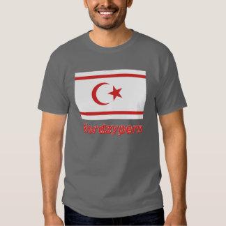 Nordzypern Flagge mit Namen Tshirts
