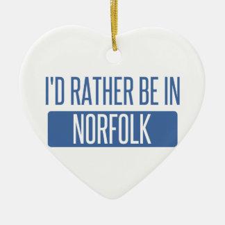 Norfolk Ceramic Ornament