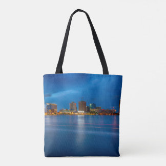 Norfolk City Skyline Tote Bag