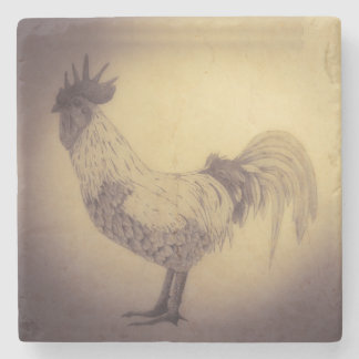 Norfolk Grey Cockerel Coaster