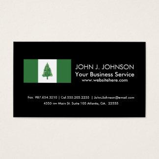 Norfolk Island Flag Business Card