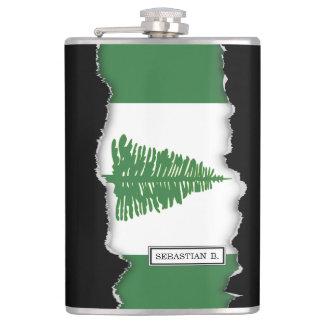 Norfolk Island Flag Hip Flask