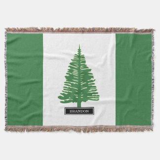 Norfolk Island Flag Throw Blanket