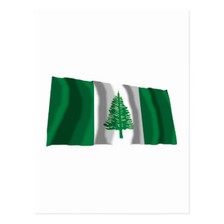Norfolk Island Waving Flag Postcard
