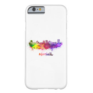 Norfolk skyline in watercolor barely there iPhone 6 case
