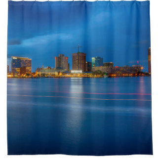 Norfolk Skyline Shower Curtain
