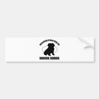 NORFOLK TERRIER DOG DESIGNS BUMPER STICKER