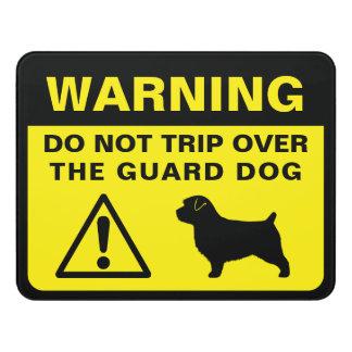 Norfolk Terrier Funny Guard Dog Warning Door Sign