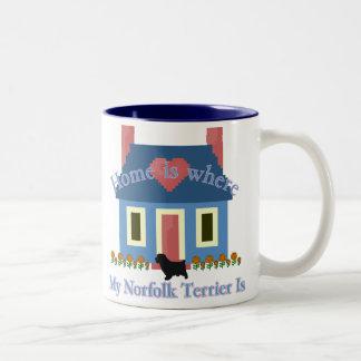 Norfolk Terrier Home Is Two-Tone Coffee Mug