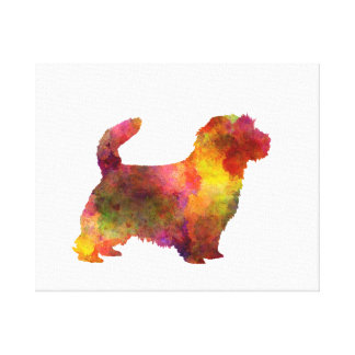 Norfolk Terrier in watercolor Canvas Print