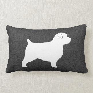 Norfolk Terrier Silhouette Lumbar Cushion